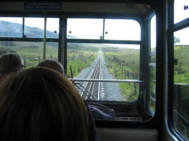 View from inside the train going up Snowdon