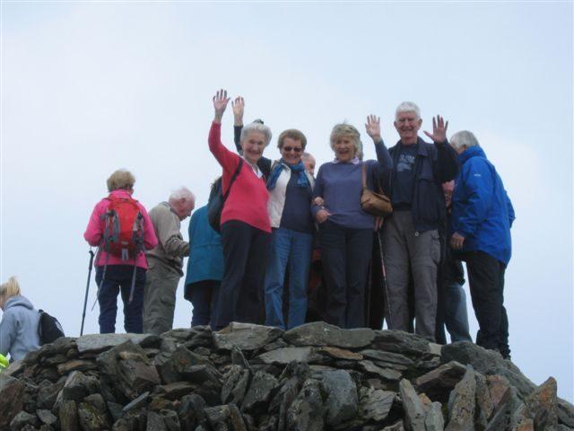 At the top of Snowdon