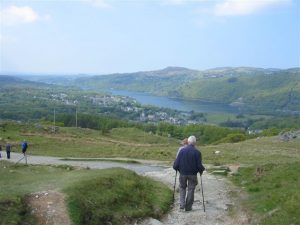 Walking down Snowdon