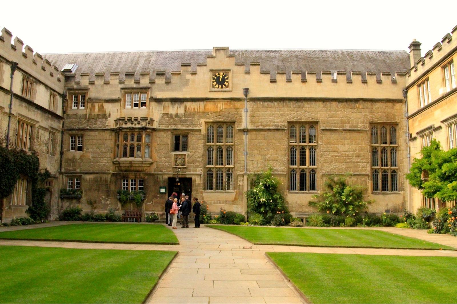 Jesus College - Quadrangle - Entrance to Dining Hall