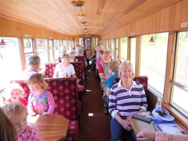 Inside the train going down