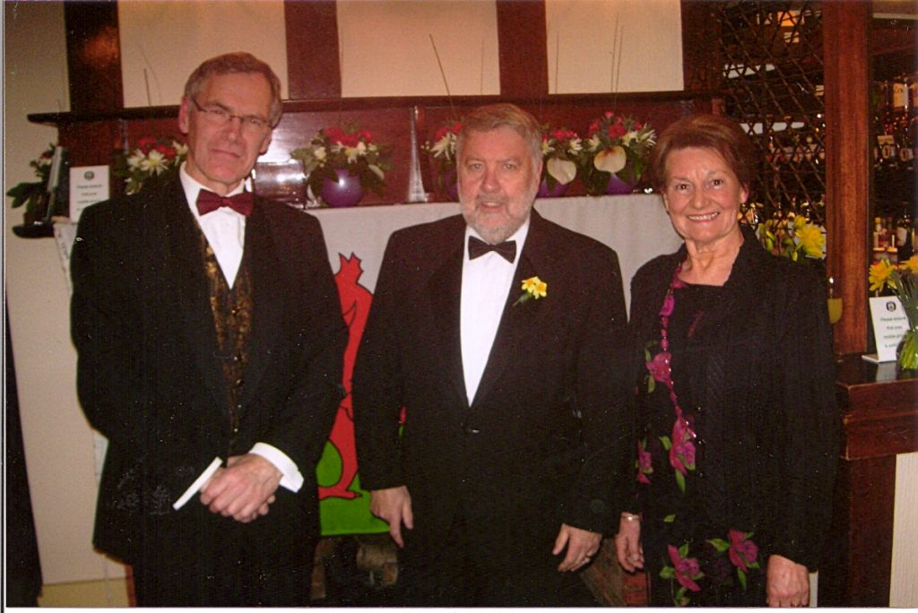 Roy Noble with Ann Evans and Gwyndaf John