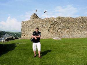 Gwyn Owen at Criccieth Castle