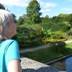Sue Jones admiring the gardens