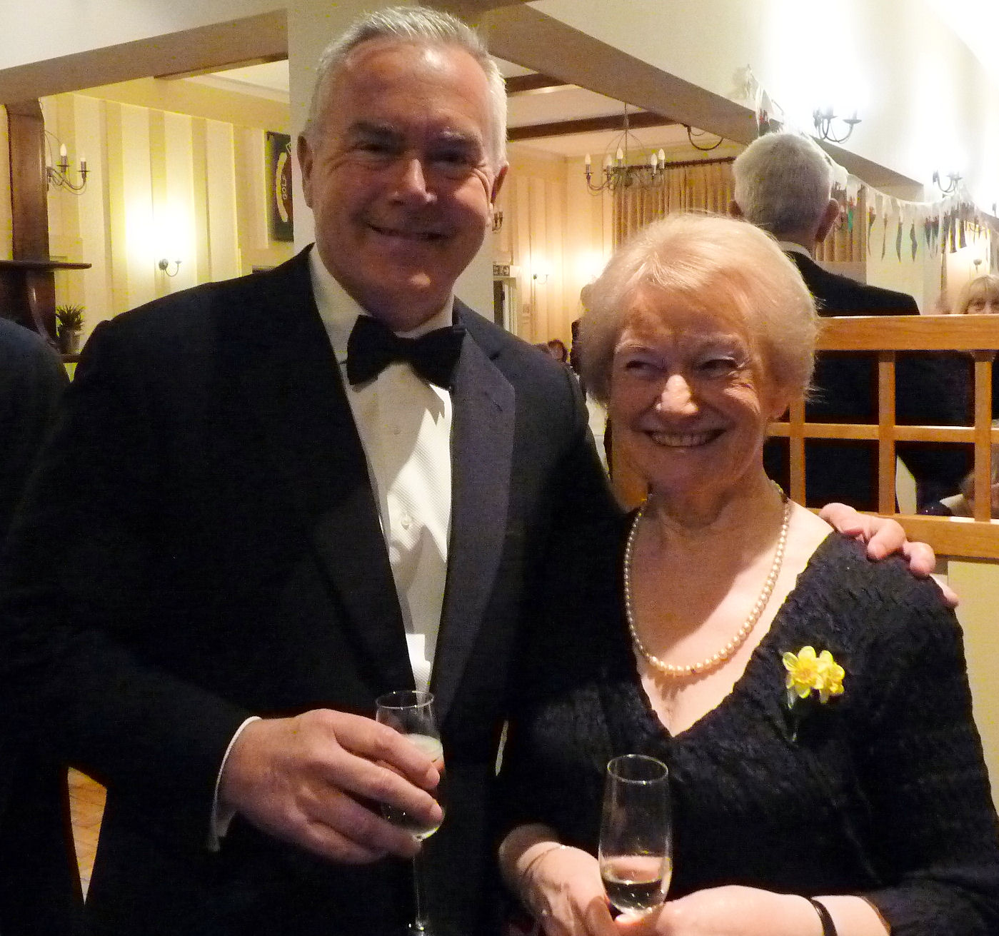 Huw Edwards with President Ann evans