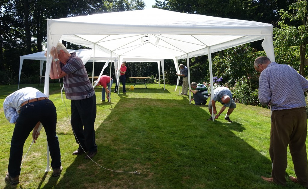 Putting up the tents